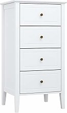 Homfa Chest of Drawers Floor Cabinet 4 Drawers