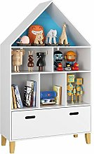 Homfa Children's Cabinet Kids Bookcase with