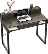 HOMFA Computer Desk, with Shelves and Drawers,