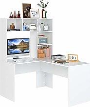 Homfa Computer Workstation L Shape Computer Desk