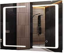 Homfa LED Lighted Mirror Cabinet Illuminated