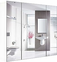 Homfa Mirror Cabinet Wall Mounted Bathroom Cabinet