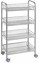 Homfa Rolling Cart Kitchen Trolley Mesh Storage