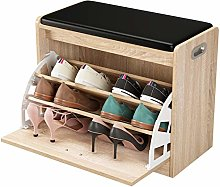 Homfa Shoe Bench Shoe Storage Rack Wooden Shoe