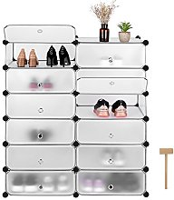 Homfa Shoe Rack Storage Cabinet Display Shelves