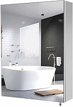 Homfa Stainless Steel Bathroom Mirror Cabinet Wall
