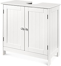 HOMFA Under Sink Storage Bathroom Cabinet 2 Doors