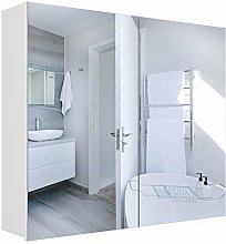 Homfa Wall Mounted Mirror Cabinet Bathroom Wall