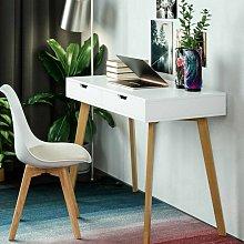 Homfa White Dressing Table Computer Desk