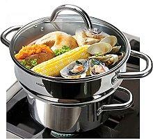 HOMICHEF 3 PCS Whole Food Steamer Set - Nickel