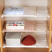 Homieco Extendable Closet Shelf Storage Rack