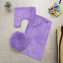 Homieco Solid Color Bathroom Rug 3 Pcs Soft