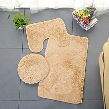 Homieco Solid Color Bathroom Rug 3 Pcs Soft