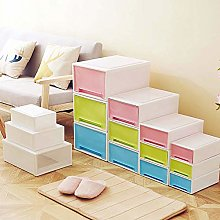 Homieco Stackable Box Chest Plastic Drawer Unit
