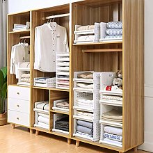 Homieco Stackable Closet Drawer Organizer Racks
