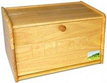 Homion® Traditional Wooden Bread bin - Drop Down