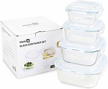 Homiu Glass Food Storage Container with Lid Impact