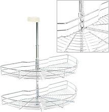 Hommoo 2-Tier Kitchen Wire Basket Silver 180