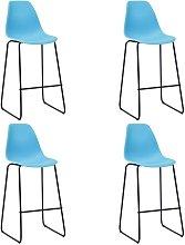 Hommoo Bar Chairs 4 pcs Blue Plastic VD23105