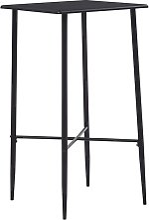 Hommoo Bar Table Black 60x60x111 cm MDF VD23146