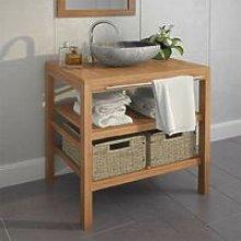 Hommoo Bathroom Vanity Cabinet with 2 Baskets