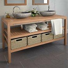 Hommoo Bathroom Vanity Cabinet with 4 Baskets