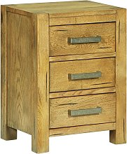 Hommoo Bedside Cabinet with 3 Drawers 40x30x54 cm