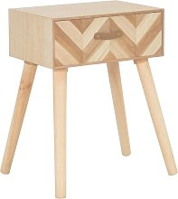 Hommoo Bedside Cabinet with Drawer 44x30x58 cm