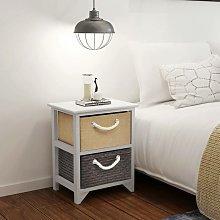 Hommoo Bedside Cabinet Wood VD09502