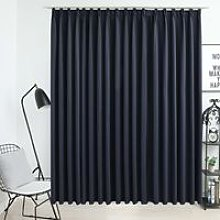 Hommoo Blackout Curtain with Hooks Anthracite