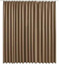 Hommoo Blackout Curtain with Hooks Taupe 290x245