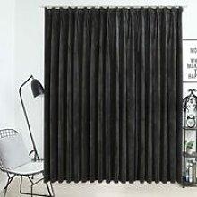 Hommoo Blackout Curtain with Hooks Velvet