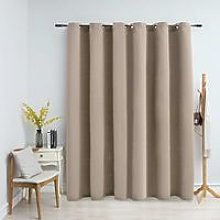 Hommoo Blackout Curtain with Metal Rings Beige