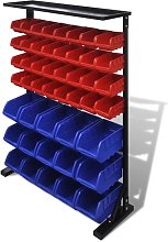 Hommoo - Blue & Red Garage Tool Organiser VD03971