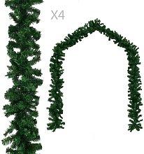 Hommoo Christmas Garlands 4 pcs Green 270 cm PVC