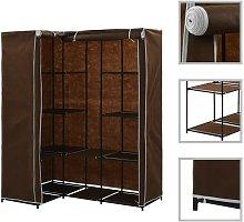 Hommoo Corner Wardrobe Brown 130x87x169 cm VD23563