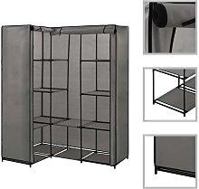 Hommoo Corner Wardrobe Grey 130x87x169 cm VD23565