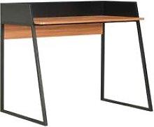 Hommoo Desk Black and Brown 90x60x88 cm
