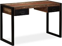 Hommoo Desk with 2 Drawers Solid Reclaimed Wood