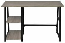 Hommoo Desk with 2 Shelves Grey and Oak QAH07444