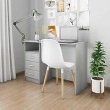Hommoo Desk with Drawers Grey 100x50x76 cm