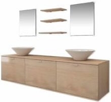 Hommoo Eight Piece Bathroom Furniture and Basin