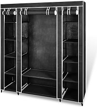 Hommoo Fabric Wardrobe with Compartments and Rods