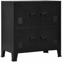 Hommoo Filing Cabinet with 4 Doors Industrial