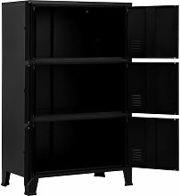 Hommoo Filing Cabinet with 6 Doors Industrial