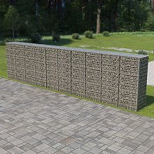 Hommoo Gabion Wall with Covers Galvanised Steel 600x50x150 cm VD05485