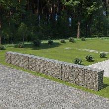 Hommoo Gabion Wall with Covers Galvanised Steel