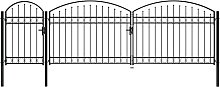 Hommoo Garden Fence Gate with Arched Top Steel
