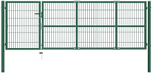 Hommoo Garden Fence Gate with Posts 350x100 cm