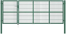 Hommoo Garden Fence Gate with Posts 350x120 cm